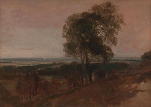 Peter De Wint - Landscape Study At Sunset