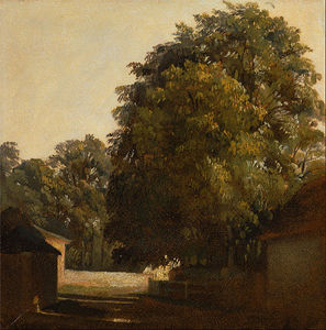 Peter De Wint - Landscape With Chestnut Tree