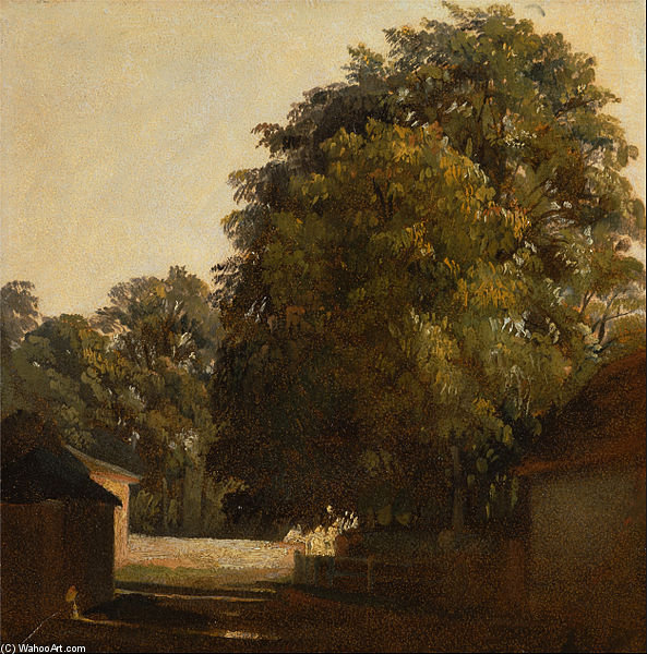 Order Reproductions | Landscape With Chestnut Tree by Peter De Wint (1784-1849, United Kingdom) | WahooArt.com