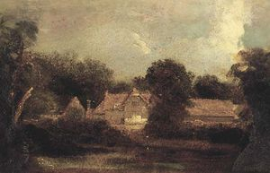 Peter De Wint - Landscape With Farm Buildings
