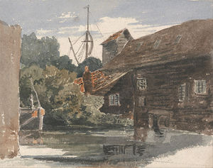 Peter De Wint - Mill At Teddington On The Thames