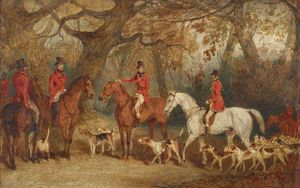 Richard Barrett Davis - The Royal Hunt With The Master Of The Royal Buckhounds, The Artist's Brother, Charles F. Davis