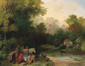 Samuel John Egbert Jones - A Gypsy Encampment
