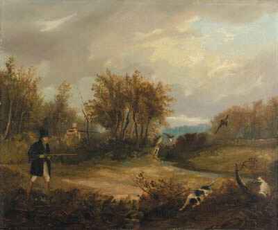 Pheasant Shooting; And The End Of Day by Samuel John Egbert Jones (1797-1861, United Kingdom)