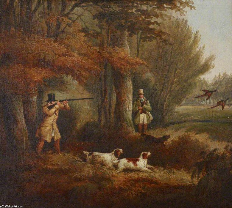 Pheasant-shooting by Samuel John Egbert Jones (1797-1861, United Kingdom) | Art Reproduction | WahooArt.com