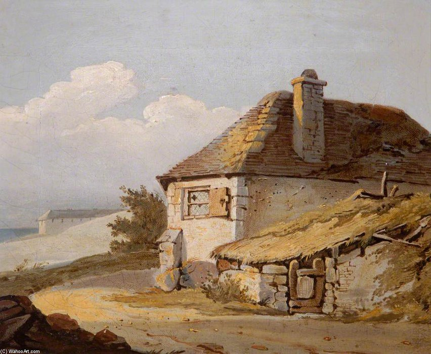 Farm Scene No.1 by Samuel Prout (1798-1863, United Kingdom) | Paintings Reproductions Samuel Prout | WahooArt.com