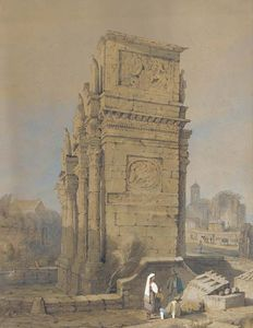 Samuel Prout - The Arch Of Constantine, Rome, From The South-east