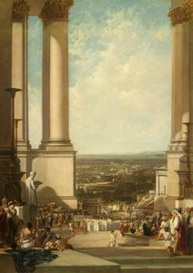 Sir Augustus Wall Callcott - The Temple Of Aesculapius