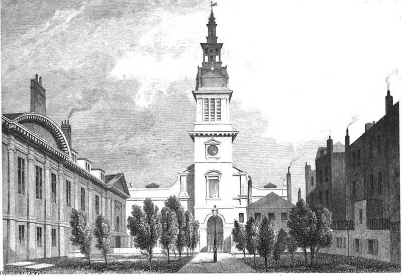 Christ Church Newgate Street by Thomas Hosmer Shepherd (1792-1864, United Kingdom)