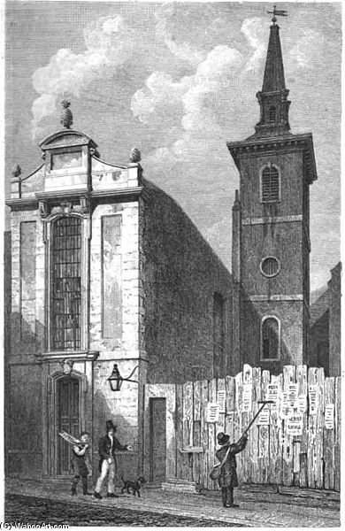 Church Of St Mildred Bread Street by Thomas Hosmer Shepherd (1792-1864, United Kingdom) | WahooArt.com
