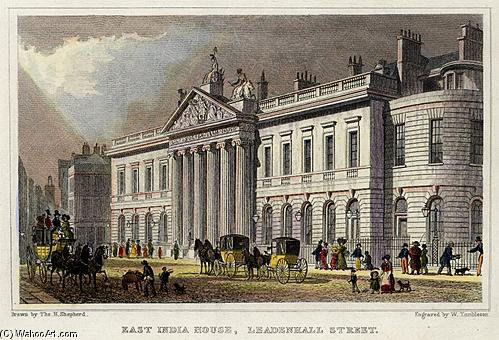 East India House by Thomas Hosmer Shepherd (1792-1864, United Kingdom)