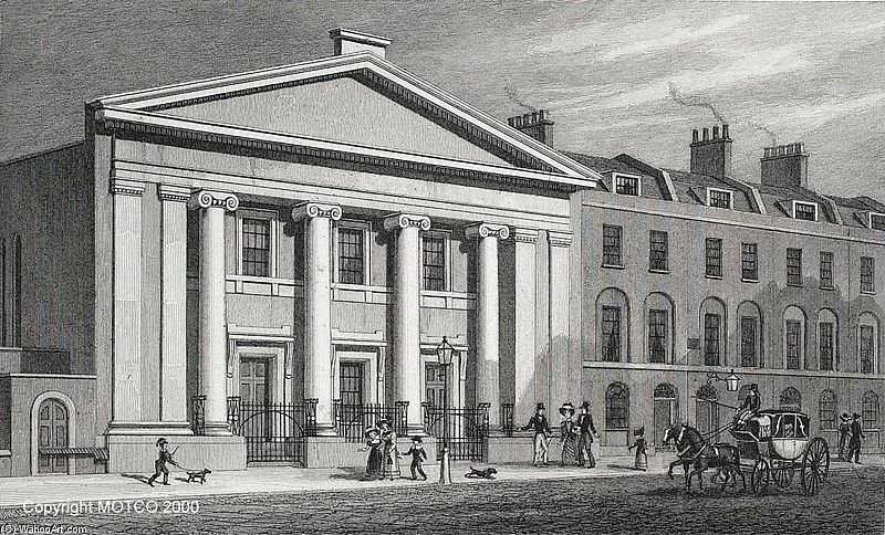 J. F. Havell - The Unitarian Chapel, Finsbury by Thomas Hosmer Shepherd (1792-1864, United Kingdom) | WahooArt.com
