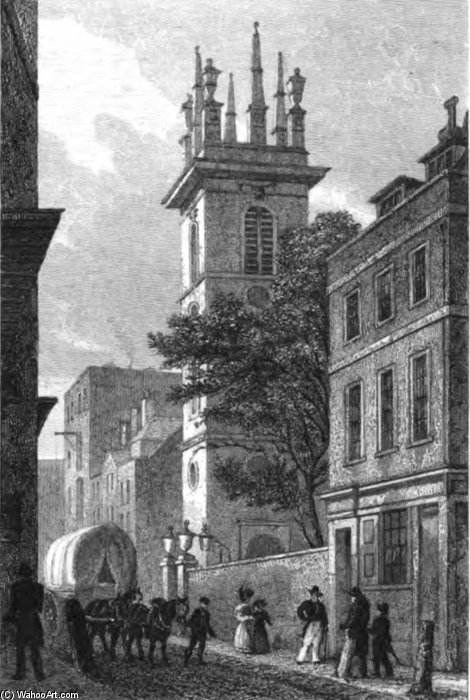 St Mary Somerset by Thomas Hosmer Shepherd (1792-1864, United Kingdom) | WahooArt.com