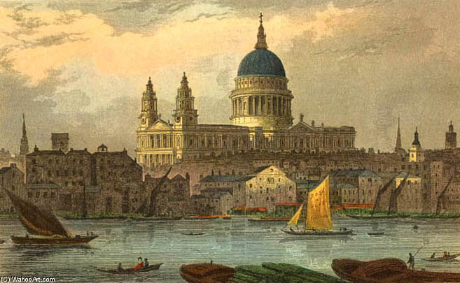 St Paul's by Thomas Hosmer Shepherd (1792-1864, United Kingdom)