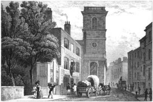 Thomas Hosmer Shepherd - The Church Of All Hallows The Great In London