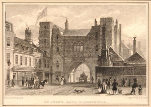 Thomas Hosmer Shepherd - View Of The South Front Of The St John's Gate Clerkenwell
