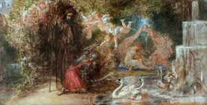 Thomas Uwins - Sir Guyon Arriving At The Bower Of Bliss
