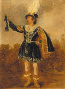 Thomas George Webster - Portrait Of George Goldney, Small Full-length, In Montem Costume, Eton College Beyond