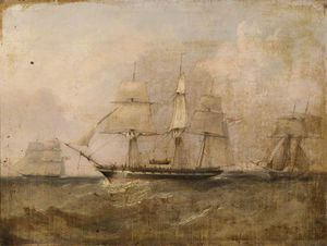 Adolphus Knell - Hms 'pearl' Capturing The 'vengador'
