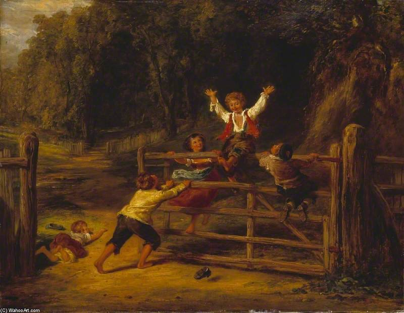 Order Paintings Reproductions | Happy As A King by William Collins (1824-1889, United Kingdom) | WahooArt.com