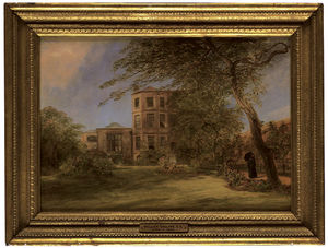 Order Art Reproductions | View Of Sir David Wilkie`s House In Vicarage Place, Kensington, From The Back Garden by William Collins (1824-1889, United Kingdom) | WahooArt.com