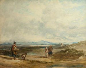 William Collins - Welsh Peasants Returning From Market; Scene Near Barmouth