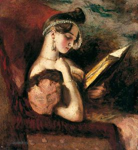 William Etty - A Girl Reading