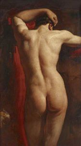 William Etty - Academic Study Of A Male Nude, Seen From Behind