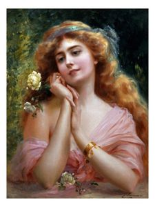 Order Art Reproduction : A Summer Reverie by Emile Vernon (1872-1920, France) | WahooArt.com
