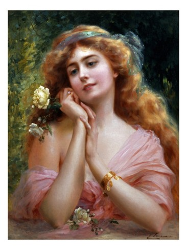 A Summer Reverie by Emile Vernon (1872-1920, France)