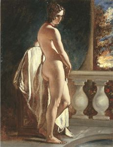 William Etty - Female Nude On A Balcony