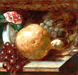 William Etty - Fruit (grapefruit And Oranges)