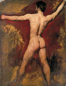 William Etty - Male Nude -