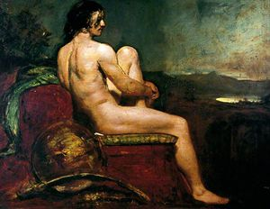 William Etty - Male Warrior