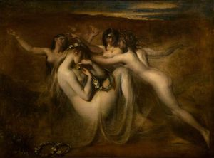 William Etty - Sabrina And Her Nymphs