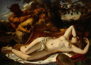 William Etty - Sleeping Nymphs And Satyrs