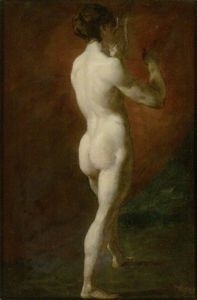 William Etty - Standing Female Nude Seen From Behind