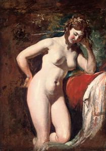 William Etty - Study Of A Female Nude - Contemplation