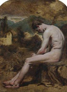 William Etty - Study Of A Male Nude