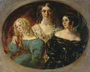 William Etty - The Honourable Mrs Caroline Norton And Her Sisters