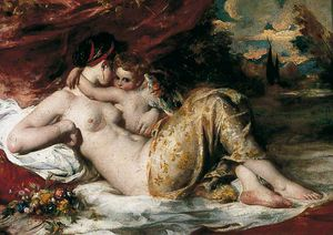 William Etty - Venus And Cupid -
