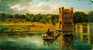 William Havell - The Thames At Datchet Ferry