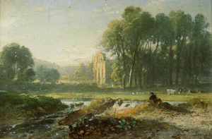 William Havell - Valle Crucis Abbey