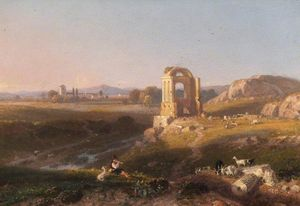 William Havell - View Near Rome, Italy
