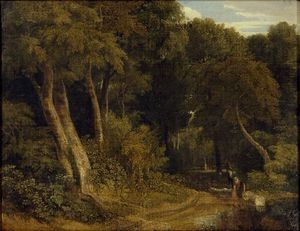 William Havell - Wooded Landscape With Sheep
