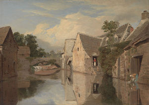 William Linton - Cottages By A River