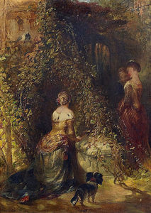 Alfred Joseph Woolmer - Three Ladies In The Park
