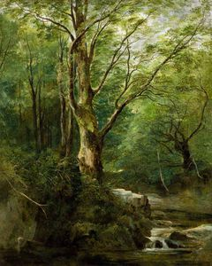 Andrew Nicholl - The Old Tree in the Glen – June