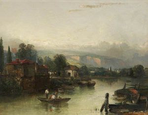 Charles Bentley - River Scene