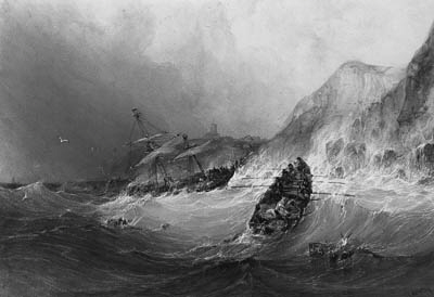 The Shipwreck by Charles Bentley (1805-1854, United Kingdom)